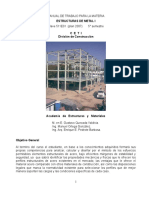 Manual de Trabajo Para La Asignatura ESTRUCTURAS de METAL I