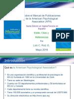 Estilo, Citas y Referencias Version APA
