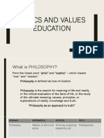 Ethics and Values Education