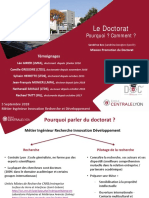 Presentation Du Doctorat 2018-09-03