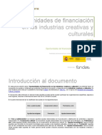 Oportunidades de Financiacion en Las ICC