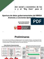 Silvia Ruiz Valor Social y Economico de Los Datos Abiertos y El Big Data