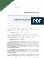 Decreto de archivo de diligencias de la Fiscalía de Madrid