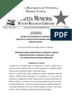 Gaceta Ordenanza 2019