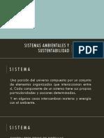 Sistemas Ambientales y Sustentabilidad