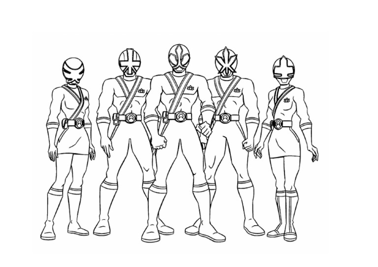 Mewarnai Gambar Power Ranger