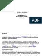Presentación 4. Rocas Igneas Volcánicas. Petrografía. EPIG 2015-2. AEHG. Set 28, 2015