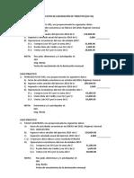 Ejercicios de Liquidación de Igv-ir