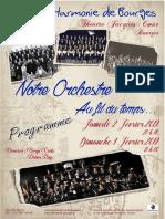 Concerts de gala de l'Harmonie de Bourges, 2-3 février 2019