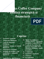 Starbucks Coffee Company – analiză strategică și financiară