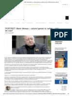 PORTRET_ Marin Moraru – Actorul Genial Cu Suflet de Copil – Radio România Cultural