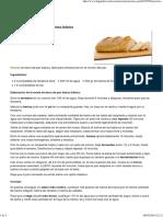 Receta de Barra de Pan Blanco Básico - Hogarutil