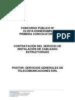 OSINERMING CABLEADO ESTRUCTURADO