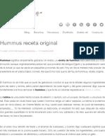 Hummus Receta Original - Los Tragaldabas