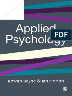 Professor Rowan Bayne, Mr Ian Horton - Applied Psychology_ Current Issues and New Directions (2003, Sage Publications Ltd)