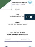 Investigacion Del Azufre