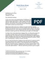 SBA Shutdown Letter