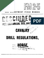 17652732 FM 25 Cavalry Drill Regulations Horse