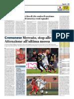 La Provincia Di Cremona 31-01-2019 - Serie B