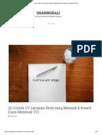 20 Contoh CV Lamaran Kerja yang Menarik & Kreatif (Cara Membuat CV)11.pdf