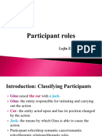 Linguistic participant roles