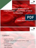 Coagulation Tests Cristina Balan
