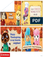 Printable Card AnimalCrossing Thanksgiving