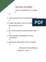 Ciencias Sociales Preguntas