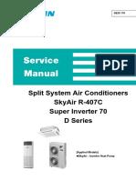 Split System Air Conditioners Daikin Inverter RZP-D