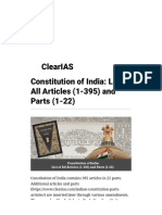 Constitution of India_ List of All Articles (1-395) and Parts (1-22) - Clear IAS
