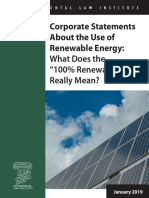 Corporate Statements About the Use of Renewable Energy