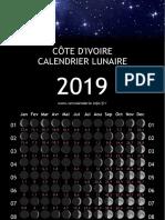 Cote Divoire Annee Calendrier 2019