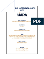 Unidad 4 Medio Ambiente y Sociedad UAPA