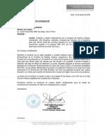 Oficio al ministro de Cultura, Rogers Valencia