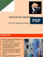 Notiuni de Anestezie Generala