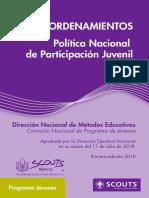 Política Nacional de Participación Juvenil 2018