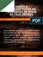 Diseño e Implementación de Pendientes en Minas a Tajo Abierto