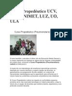 Curso Propedéutico UCV