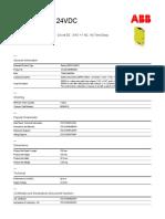 2TLA010050R0000 Safety Relay Sentry Ssr10 24vdc 24 Volt Dc 3 No 1 Nc No Time Delay (1)