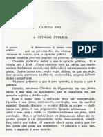 Introdução à Ciência Política - Darcy Azambuja (Capítulo Xviii - A Opinião Pública)[1]