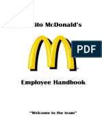 Mcdonalds Employee Handbook