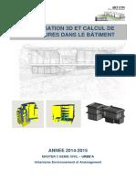 Pfe Ingenieur b.a Structure 2015 - Modelisation 3d Et Calcul de Structure Btp