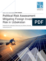 Mitigating Foreign Investment Risk in Uzbekistan