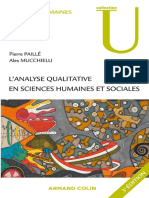 L-'Analyse Qualitative en Sciences Humaines Et Sociales