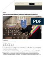 Análisis político Venezuela