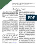 Nikola Tesla's Patents Snezana Sarboh1