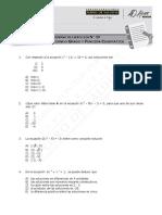 1521-MA34 - Ecuación de 2º Grado y Función Cuadrática - 2018 (7%)