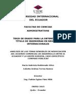 ANÁLISIS DE LOS TEMAS SENSIBLES DE NEGOCIACIÓN  DEL ACUERDO COMERCIAL  DE DESARROLLO ENTRE EL ECUADOR Y LA UNIÓN EUROPEA, CASO ESPECÍFICO COMPRAS PÚBLICAS.pdf