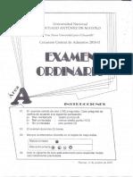 Examen de Admision Unasam 2018 - II
