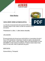 Hojas Tecnicas ADERE Productos Venezuela